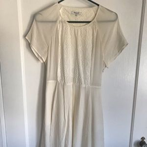 Madewell White cut out dress